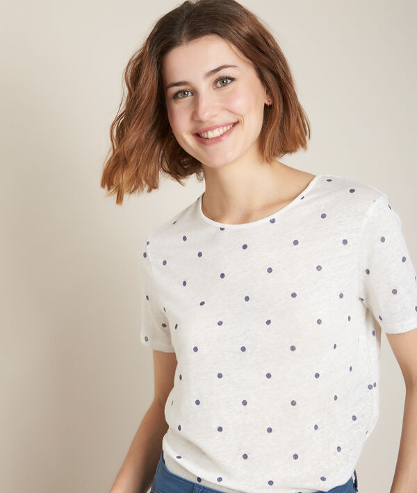 Roxane polka dot linen T-shirt PhotoZ | 1-2-3