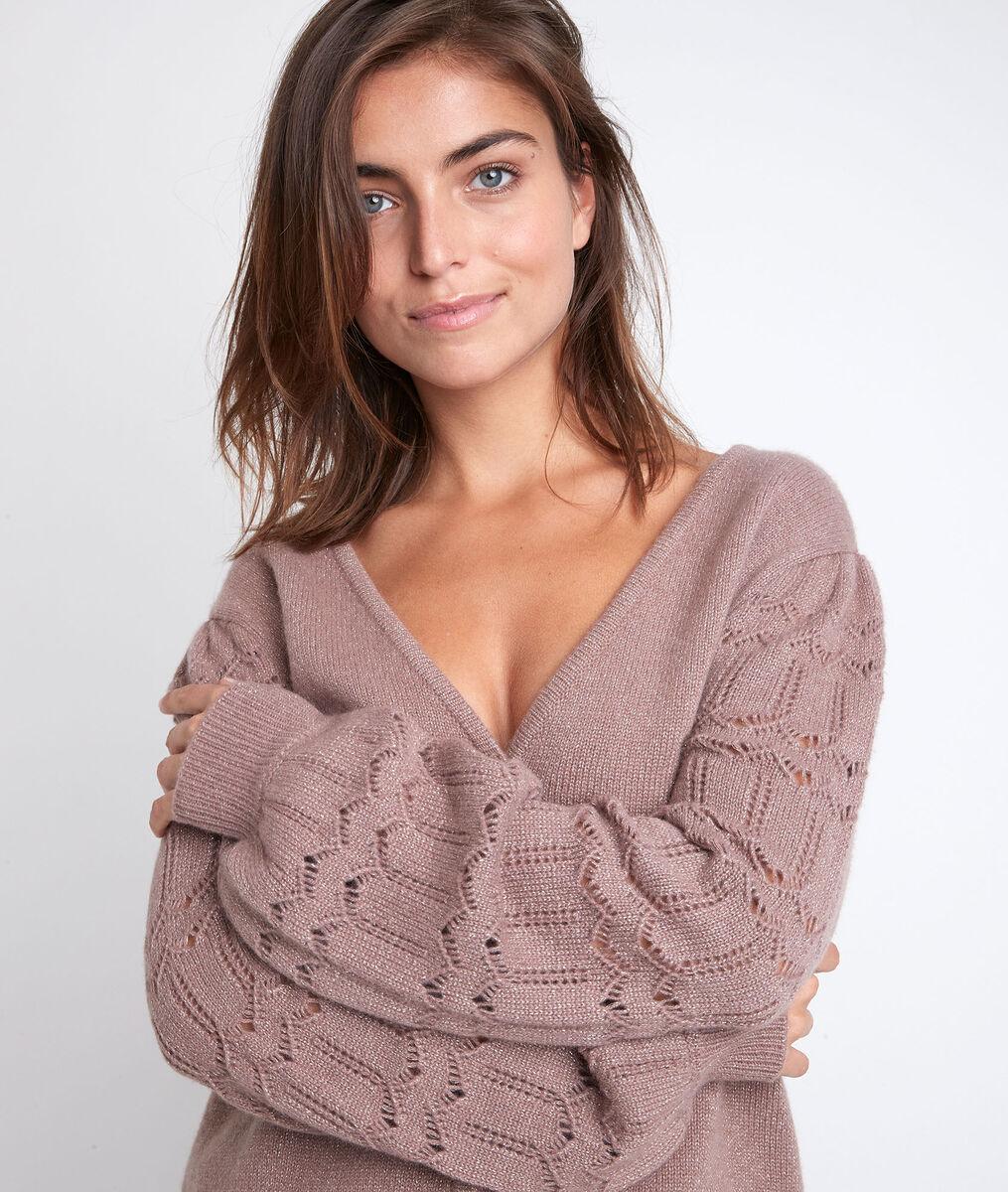 Respect blush reversible cashmere cardigan PhotoZ | 1-2-3