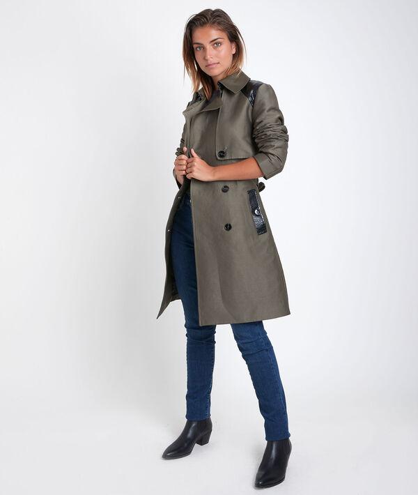 Sokari 3/4-length khaki trench coat PhotoZ | 1-2-3