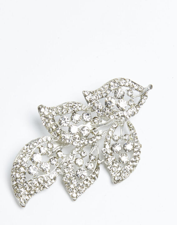 Xelia silver plated leaf brooch (2) - Maison 123