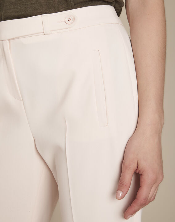 Lara powder-coloured cigarette trousers (3) - Maison 123