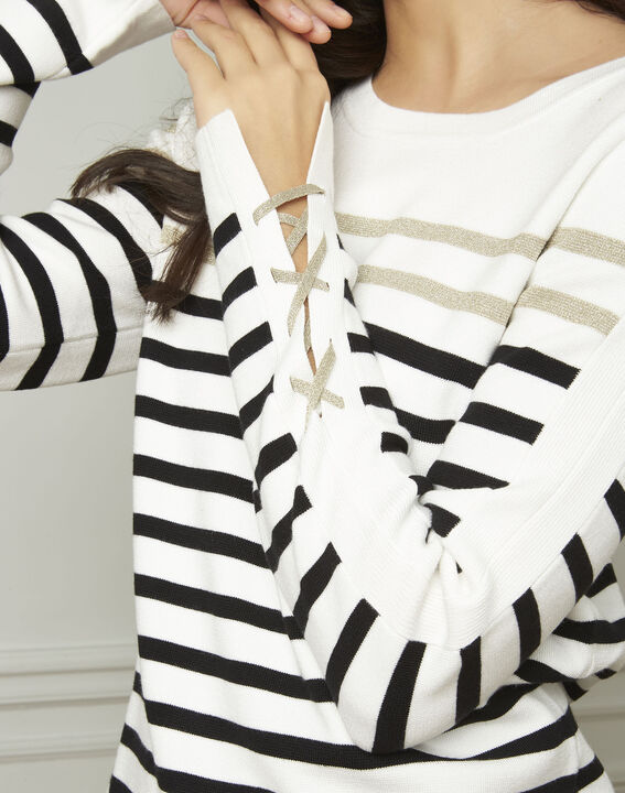 Amiral pullover with stripes and lacing details (4) - Maison 123
