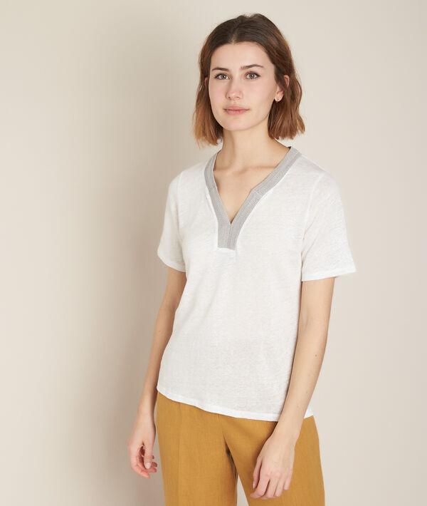 Rwana white linen t-shirt PhotoZ   1-2-3