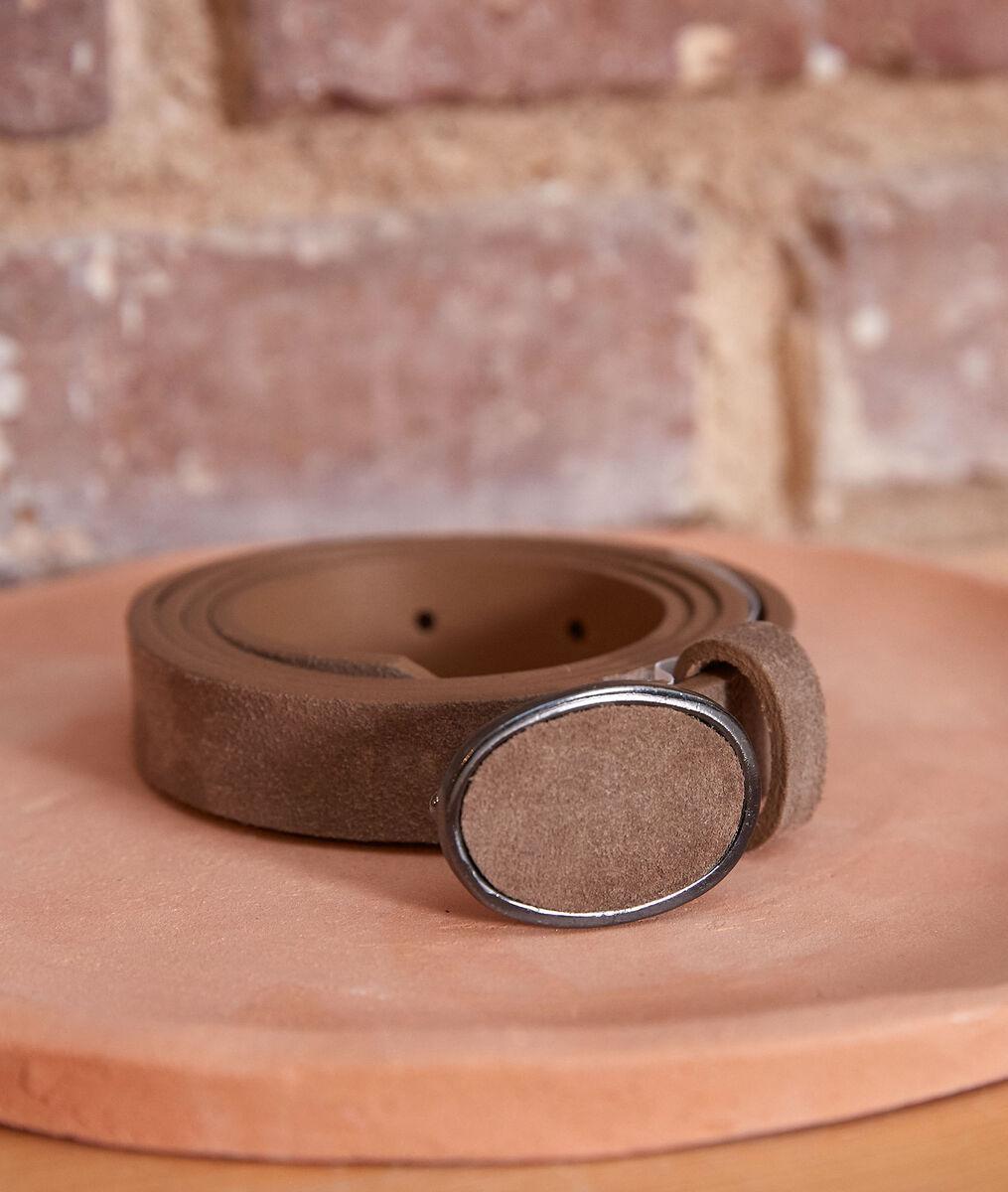 Evane chalk-coloured suede belt PhotoZ | 1-2-3