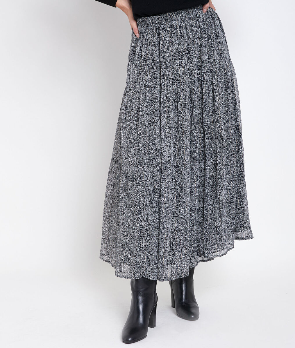 Ginko speckled print maxi skirt PhotoZ | 1-2-3