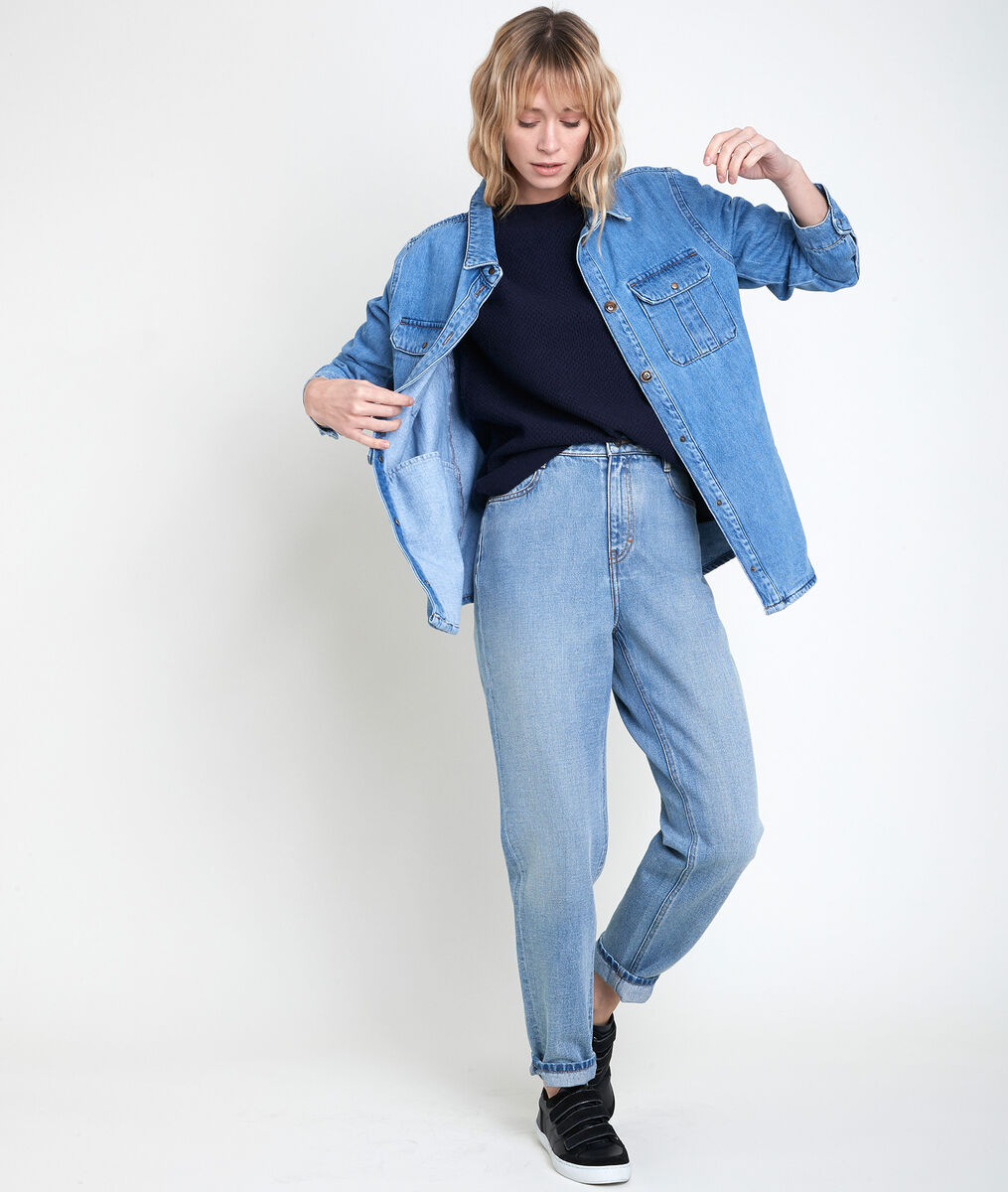 AMORE blue decorative knit jumper PhotoZ | 1-2-3