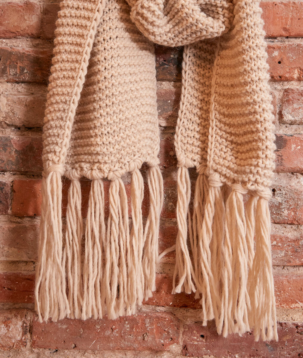 Haby chalk-coloured fringed scarf PhotoZ | 1-2-3