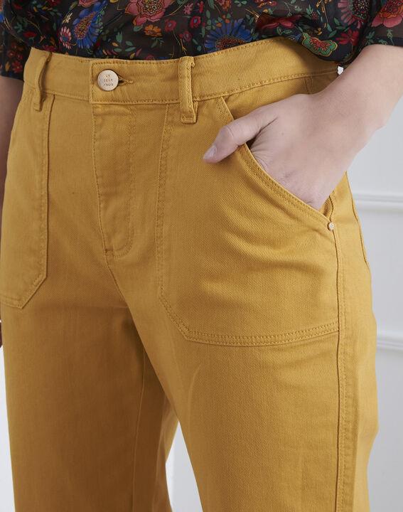 Coconut yellow 7/8 length boyfriend jeans (3) - Maison 123