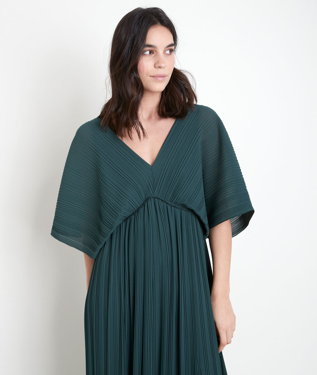 MARION pleated maxi dress with cypress design PhotoZ | 1-2-3