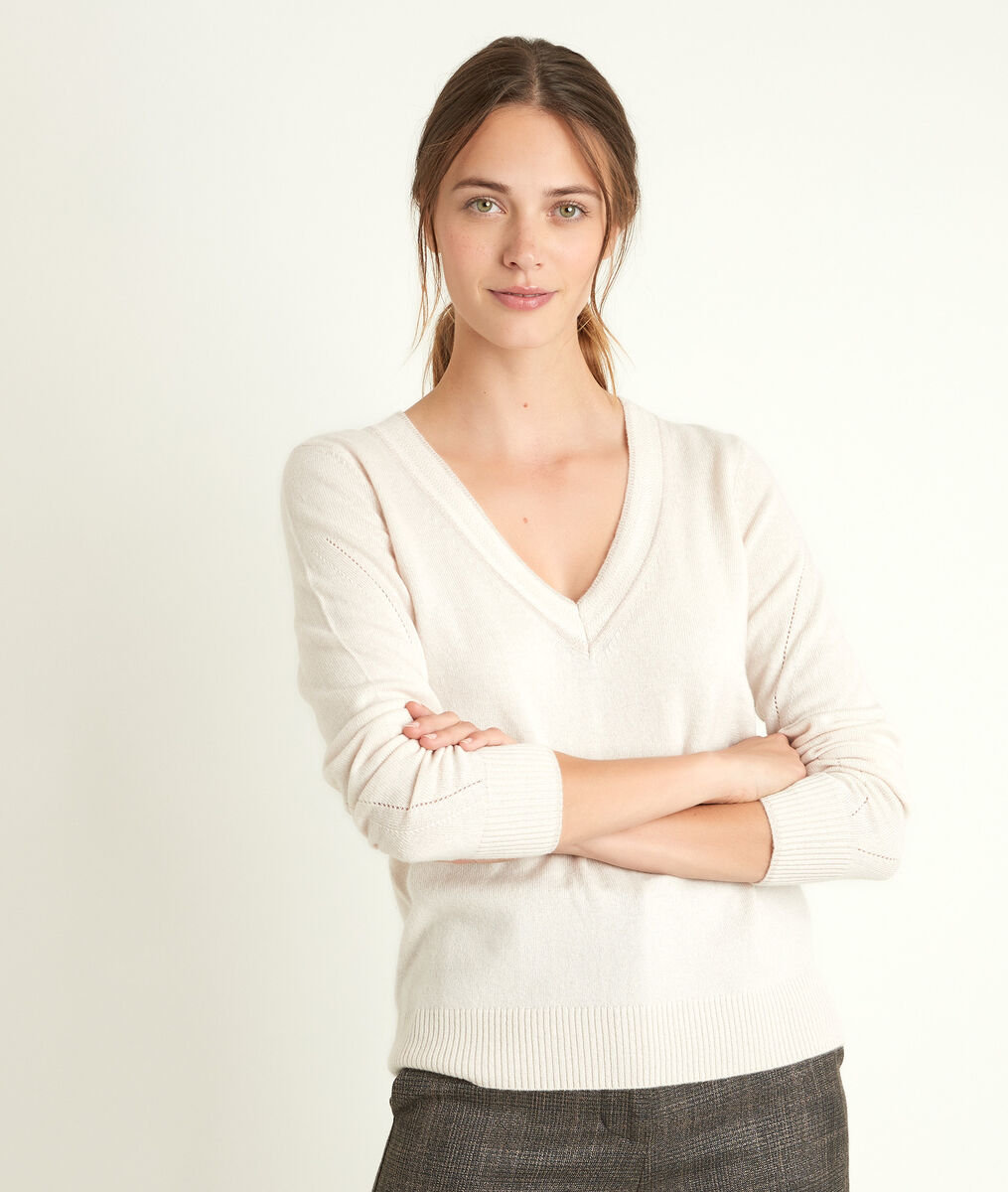 Rozane wool and cashmere pullover in blotting paper hue PhotoZ | 1-2-3