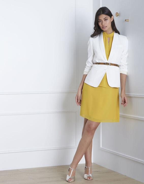 Heloise yellow high-neck dress (2) - Maison 123