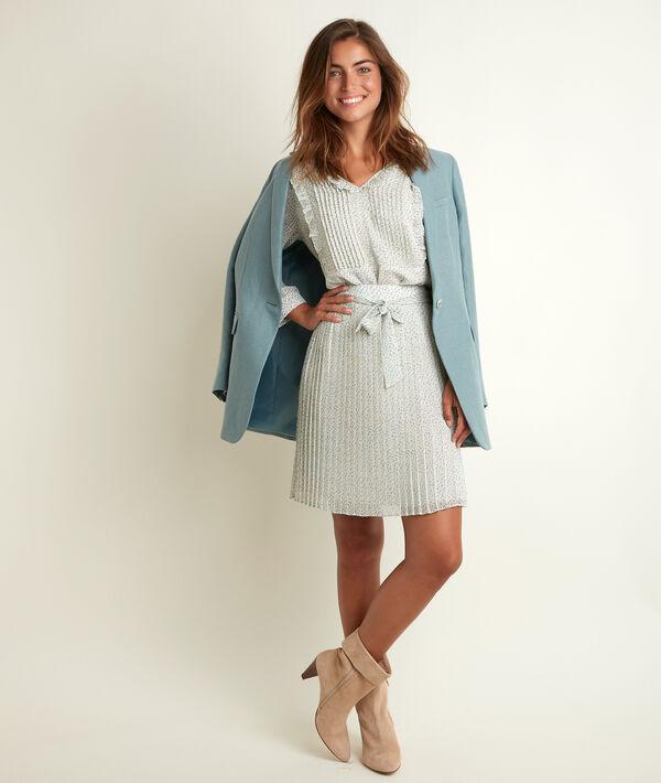 Gisèle printed pleated skirt PhotoZ | 1-2-3