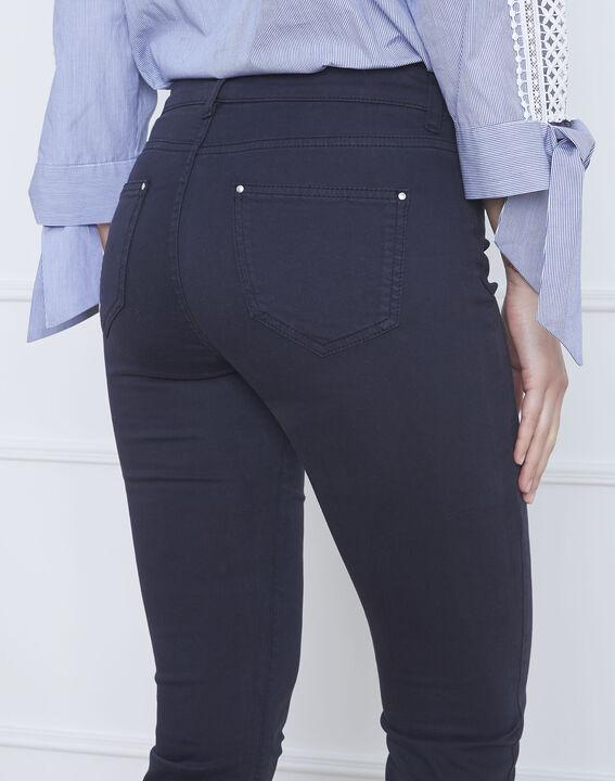 Vendome navy slim-fit 7/8-length sateen jeans (3) - Maison 123