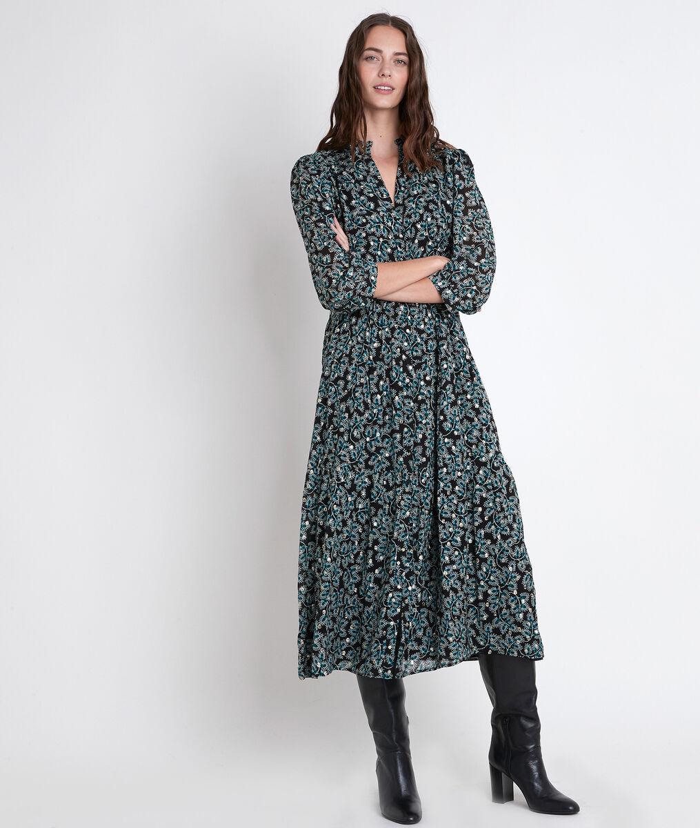 CAROLA maxi dress with cypress print PhotoZ   1-2-3