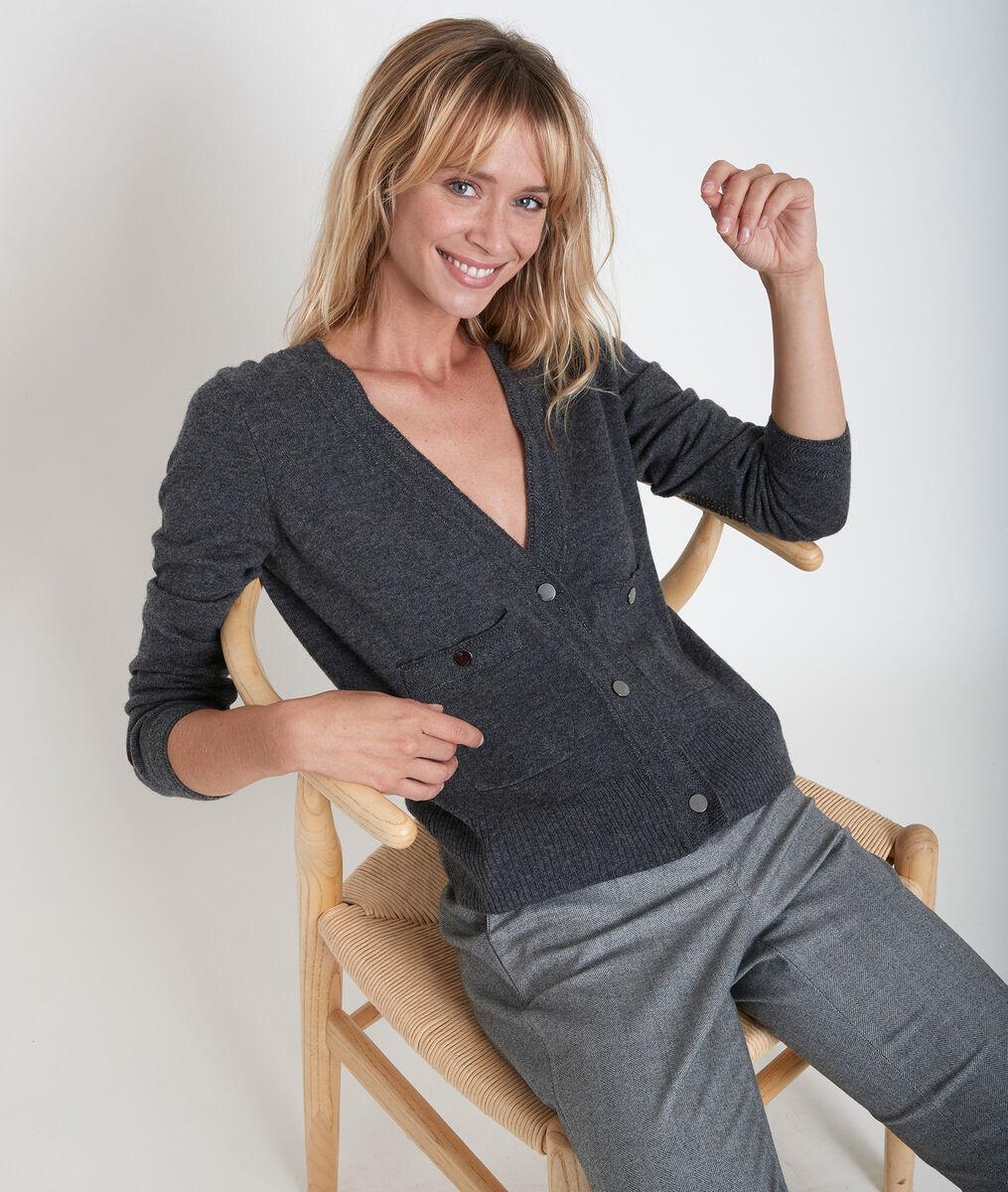 Rita wool and cashmere cardigan PhotoZ | 1-2-3