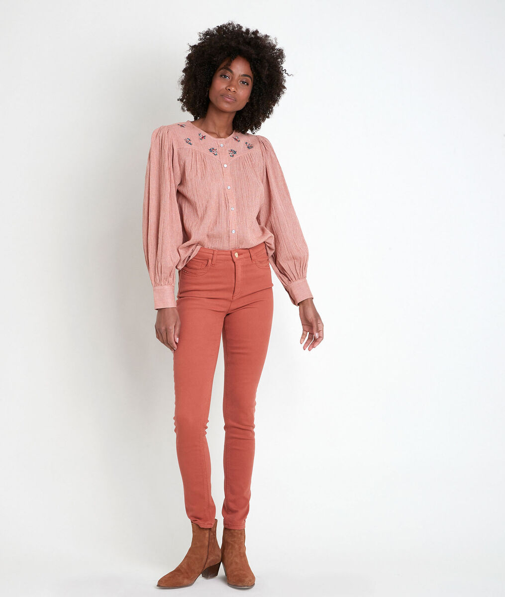 The iconic SUZY guava  slim-fit jeans PhotoZ | 1-2-3