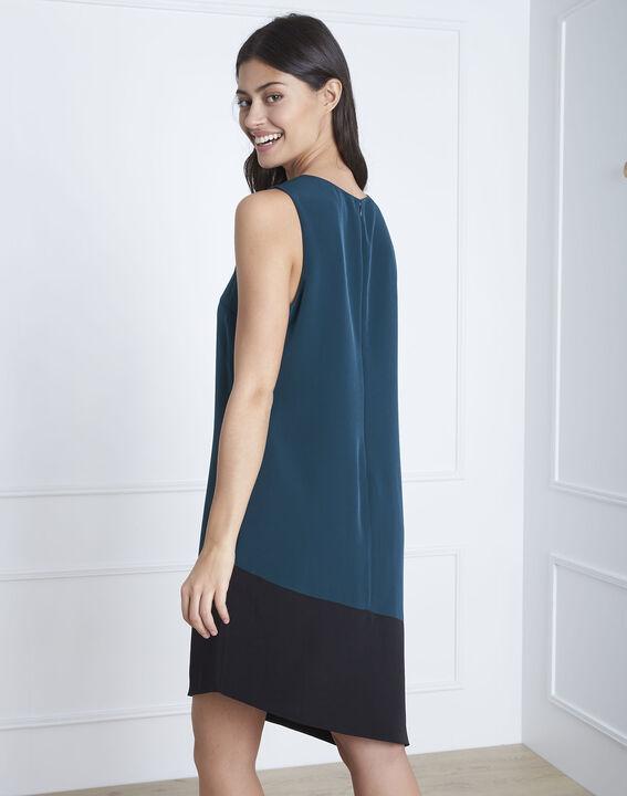 Horline dark green asymmetric dress (4) - Maison 123