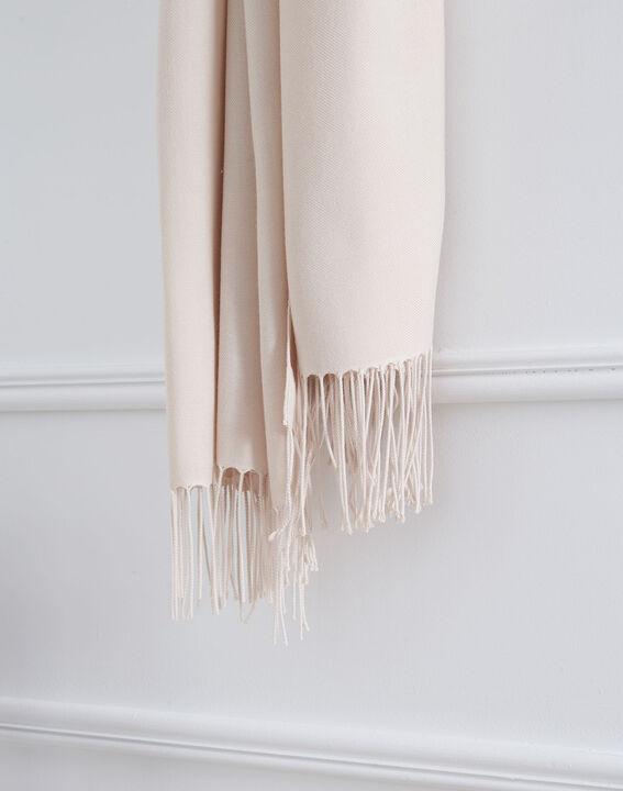 Fossette nude viscose fringed scarf (2) - Maison 123
