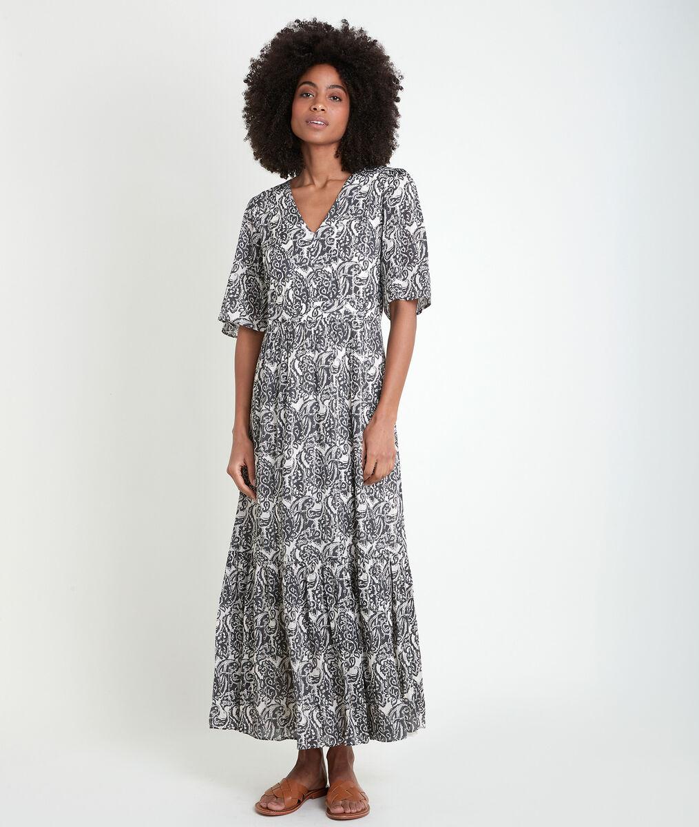 Ludine long printed dress PhotoZ | 1-2-3