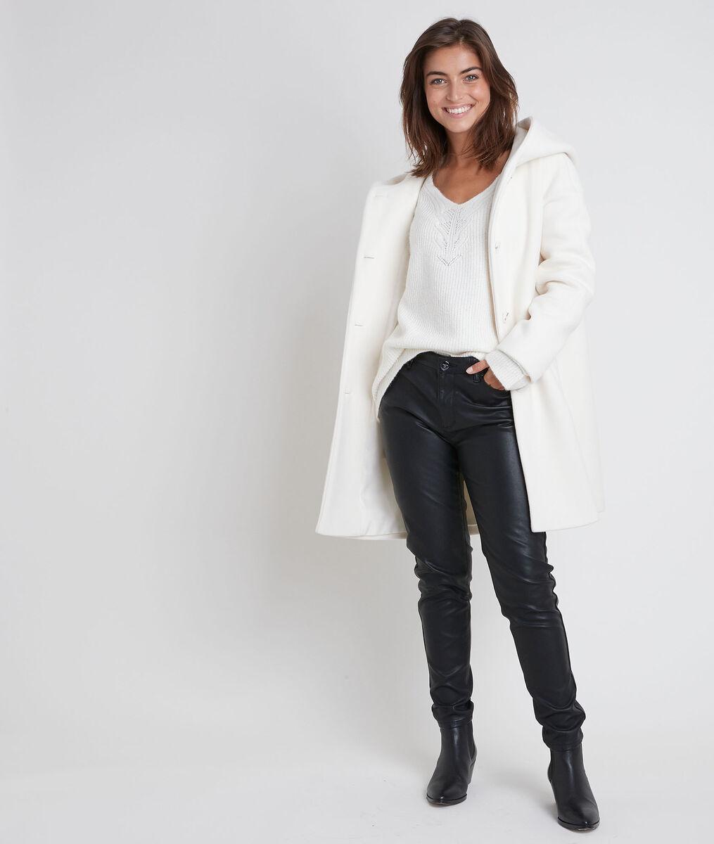 Ocea cream wool blend coat PhotoZ | 1-2-3