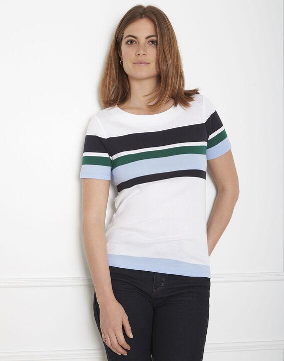 Gasayat green striped T-shirt PhotoZ | 1-2-3