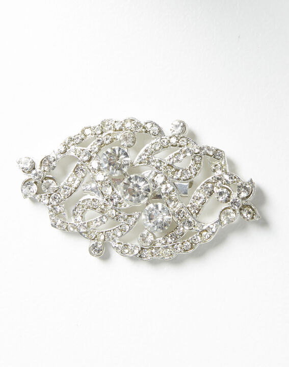 Xaviera silver plated intertwined brooch  (2) - Maison 123