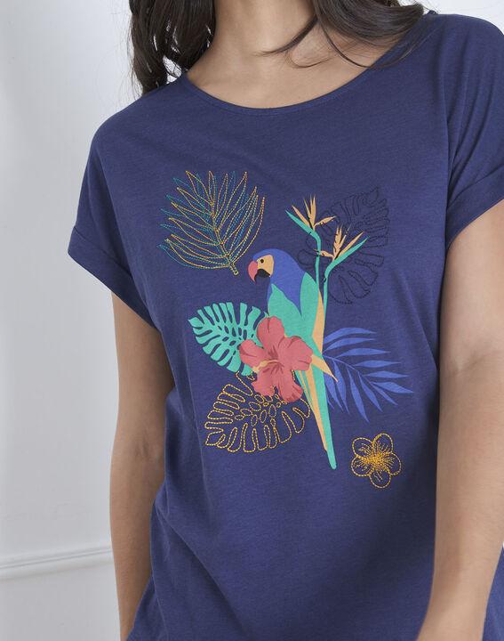 Petropolis blue parrot print T-shirt (3) - Maison 123