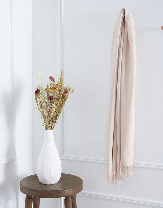Fossette nude viscose fringed scarf (1) - Maison 123