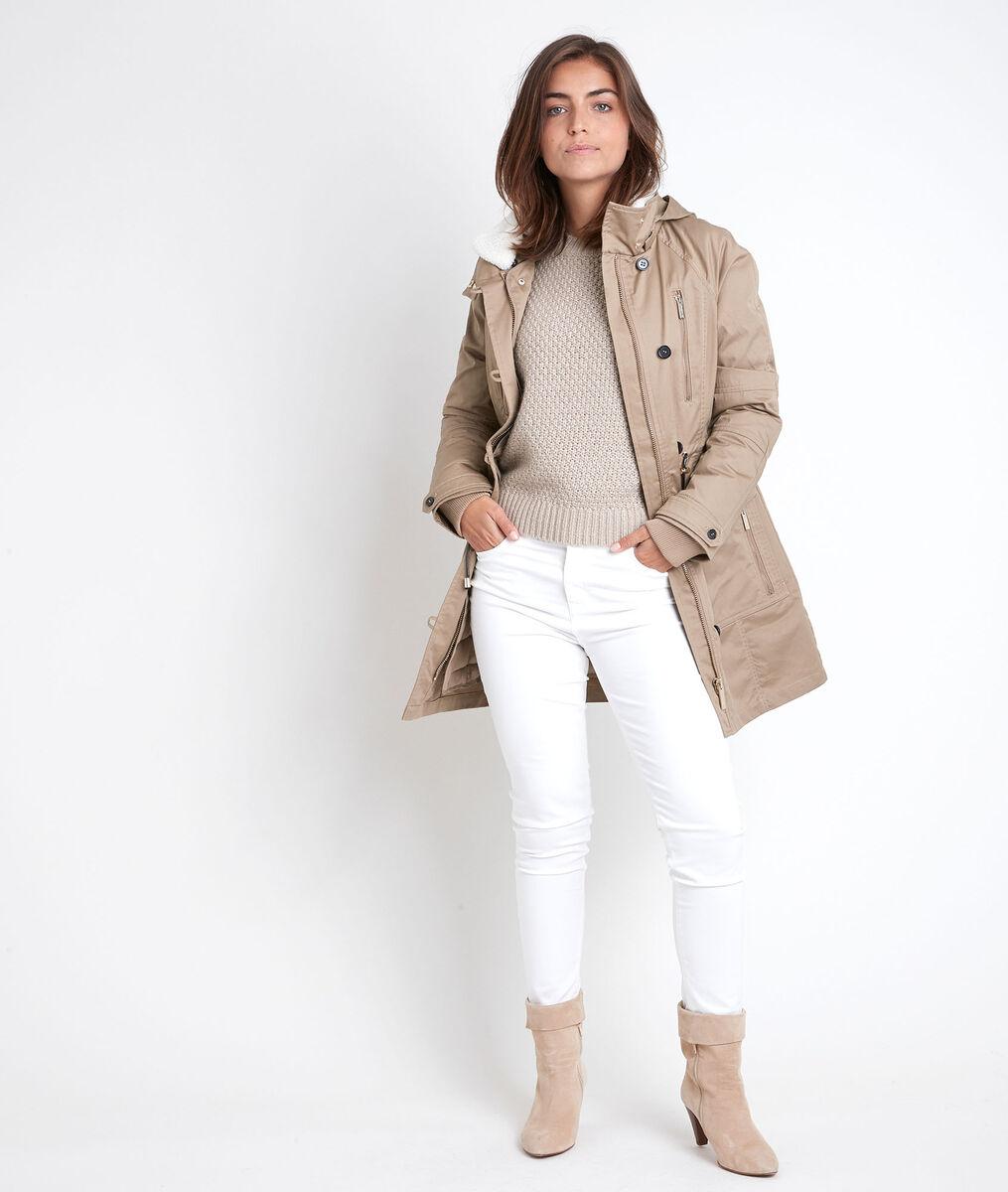 Sanae beige hooded parka PhotoZ | 1-2-3