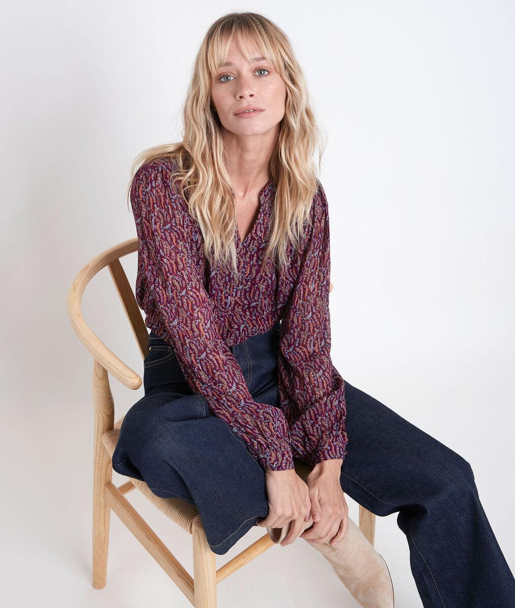 Elsa garnet printed blouse PhotoZ | 1-2-3