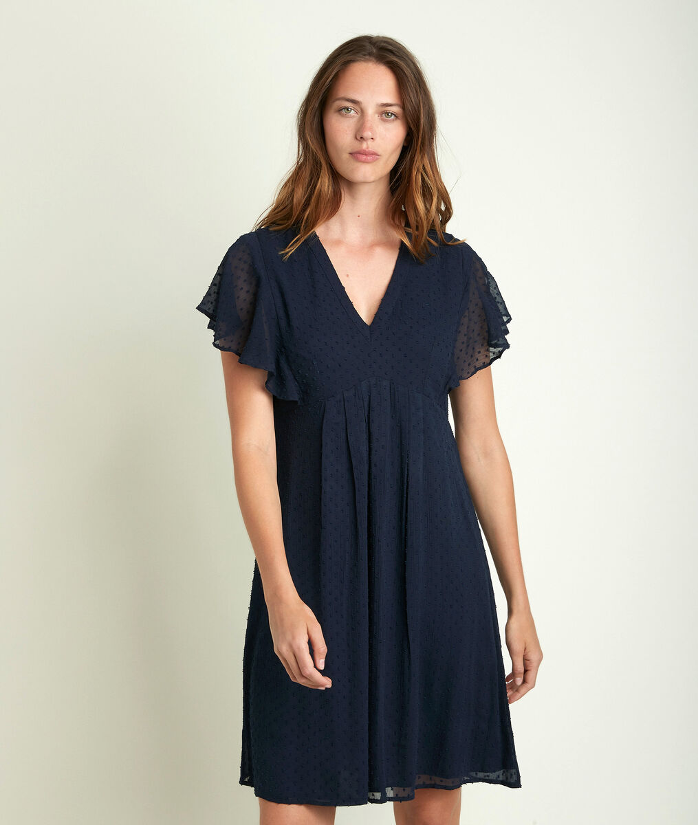 Calissa navy plumetis dress PhotoZ | 1-2-3