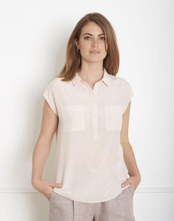 Veziane powder pink silk blouse (1) - Maison 123