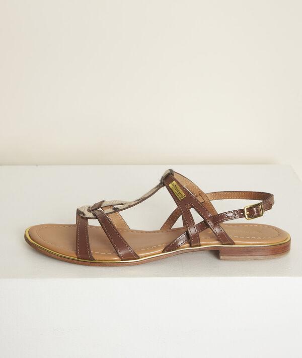 Les Tropéziennes Jackel leather sandals PhotoZ   1-2-3