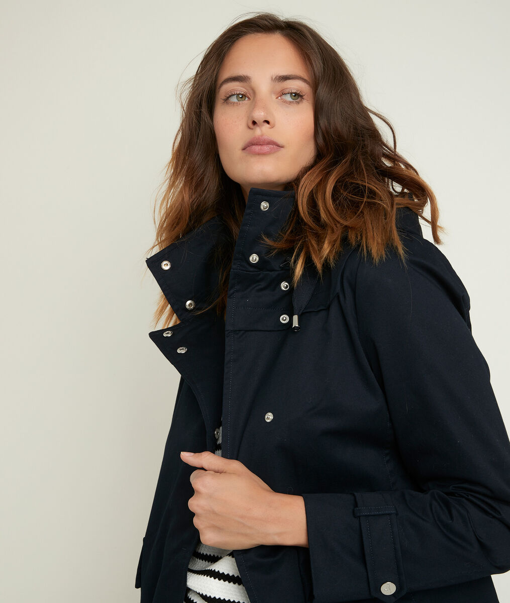 Sunko navy blue hooded parka PhotoZ | 1-2-3