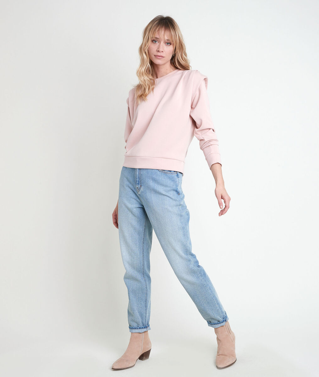 Ice pink sweater with shoulder pads PhotoZ | 1-2-3