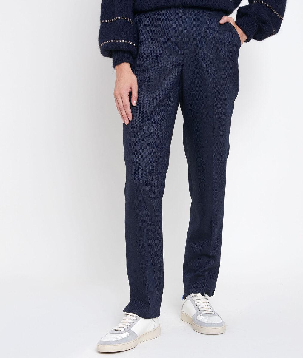 Magnus herringbone cigarette-cut trousers PhotoZ | 1-2-3