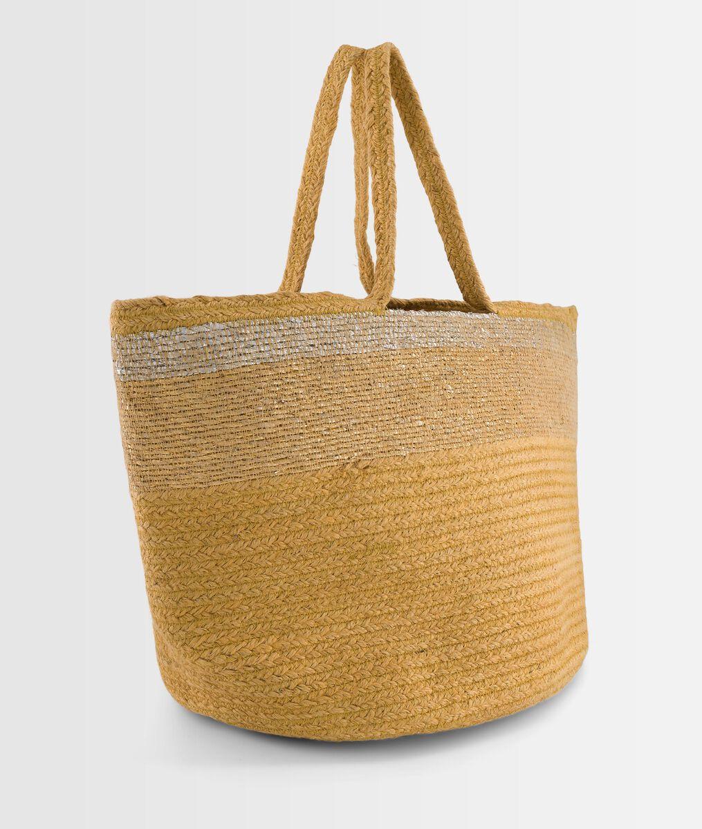 DAVE vanilla striped jute basket PhotoZ | 1-2-3