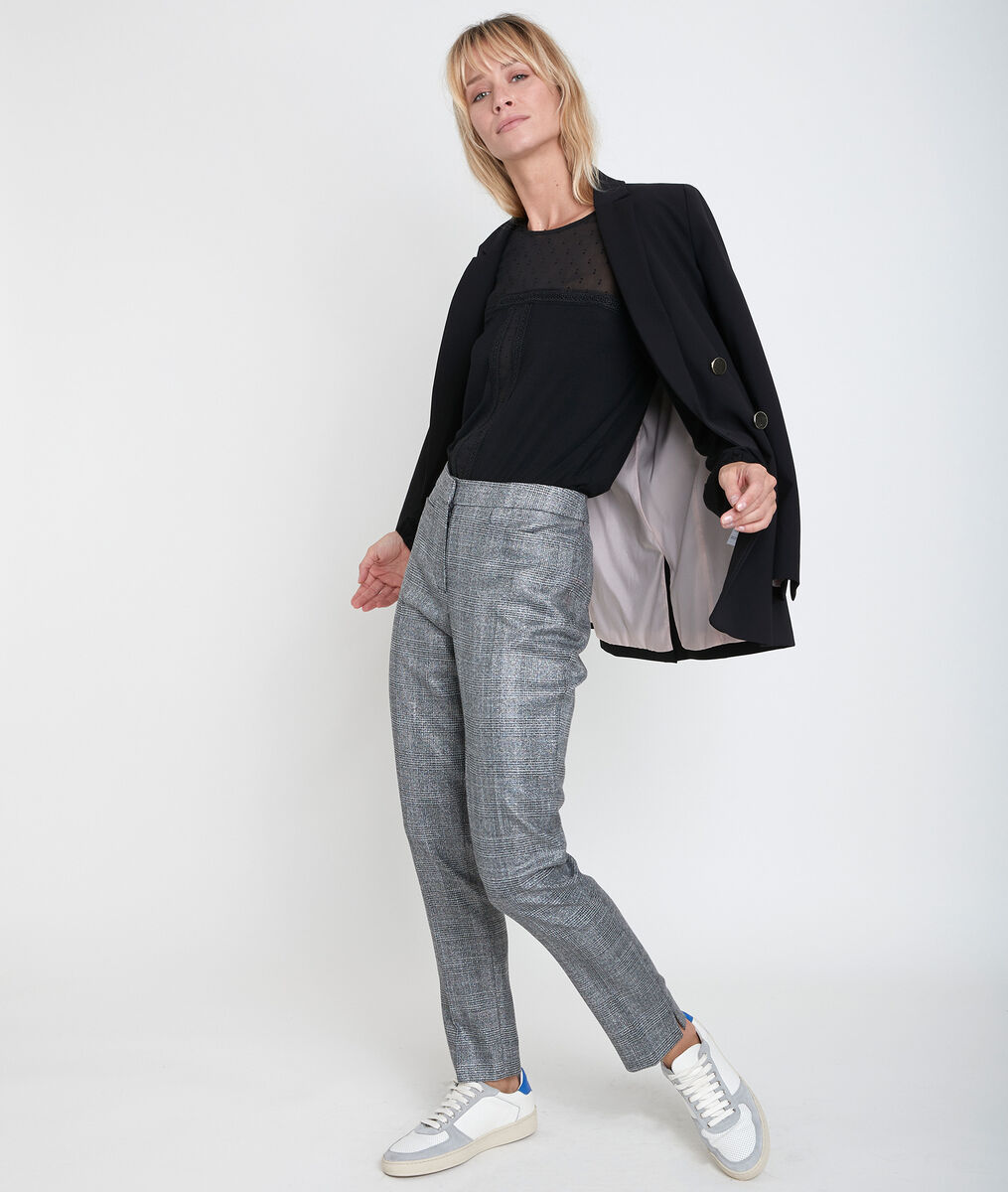 Valero checked tapered-leg trousers PhotoZ   1-2-3