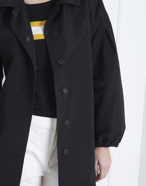 Daniela black belted trench coat (3) - Maison 123