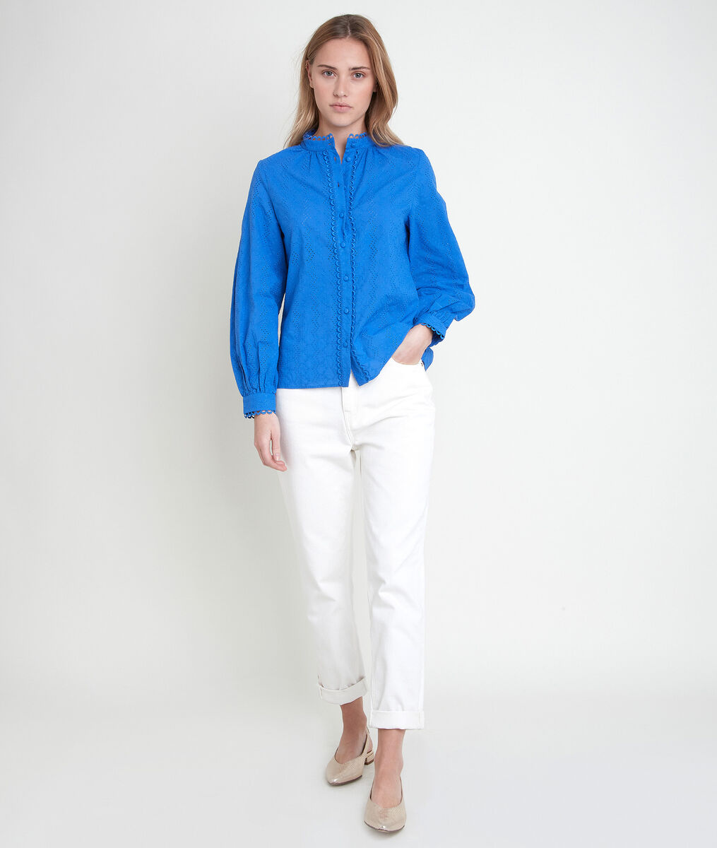 TIFFANY embroidered forget-me-not blouse PhotoZ | 1-2-3