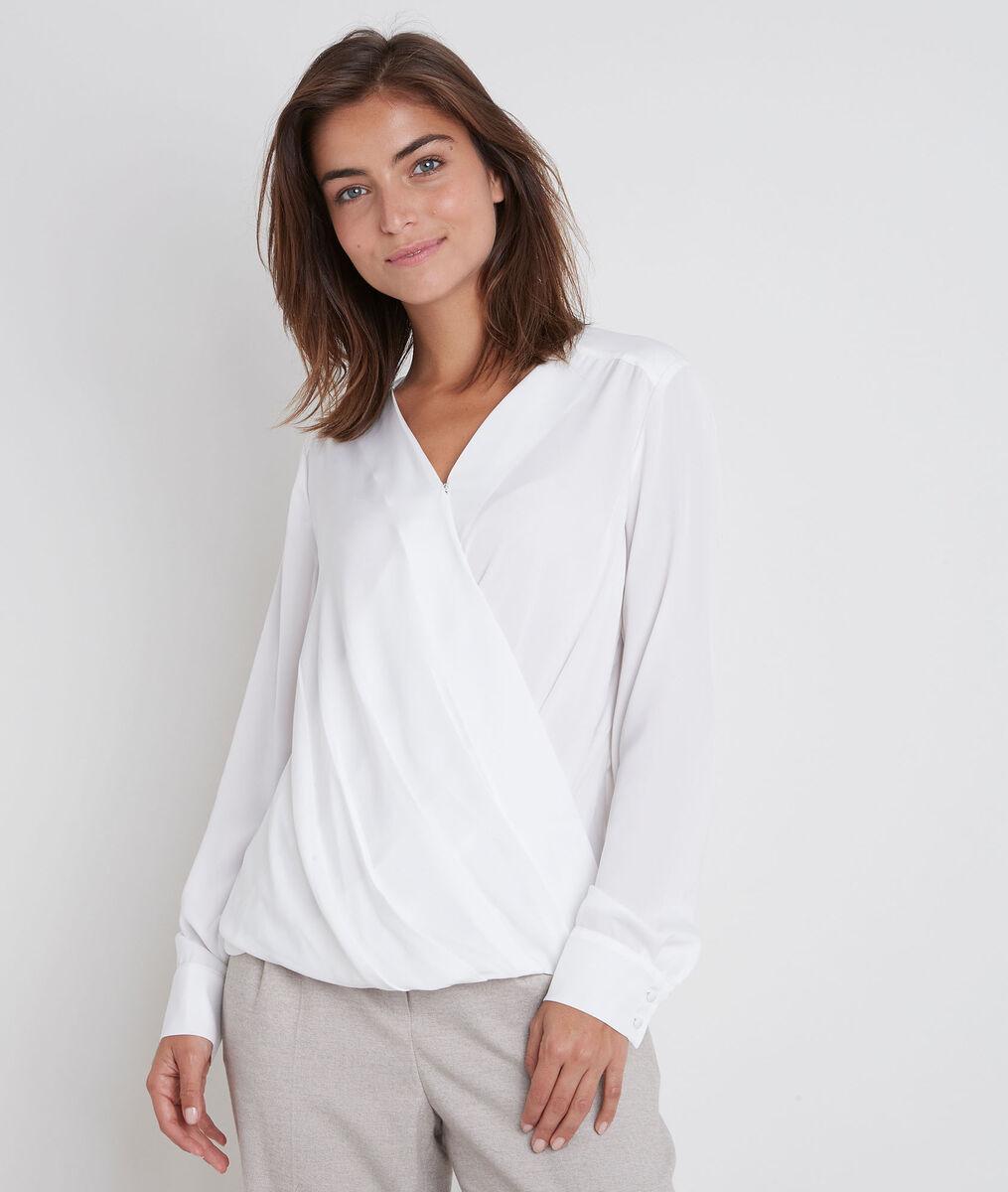 Jalila ecru draped blouse PhotoZ | 1-2-3