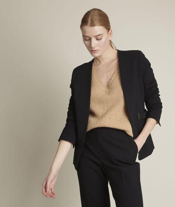 Flambeur tan lurex pullover  PhotoZ | 1-2-3