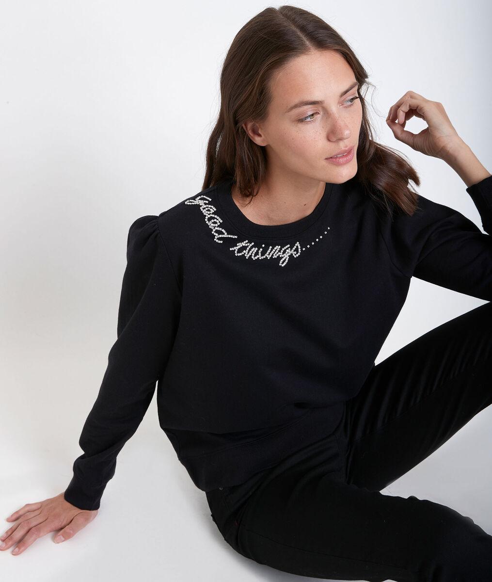 Diamant rhinestone embroidered pullover PhotoZ | 1-2-3