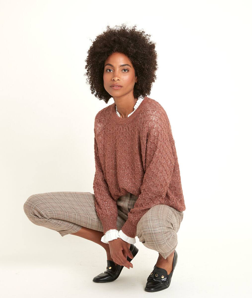 Roswell sparkly openwork pullover PhotoZ   1-2-3
