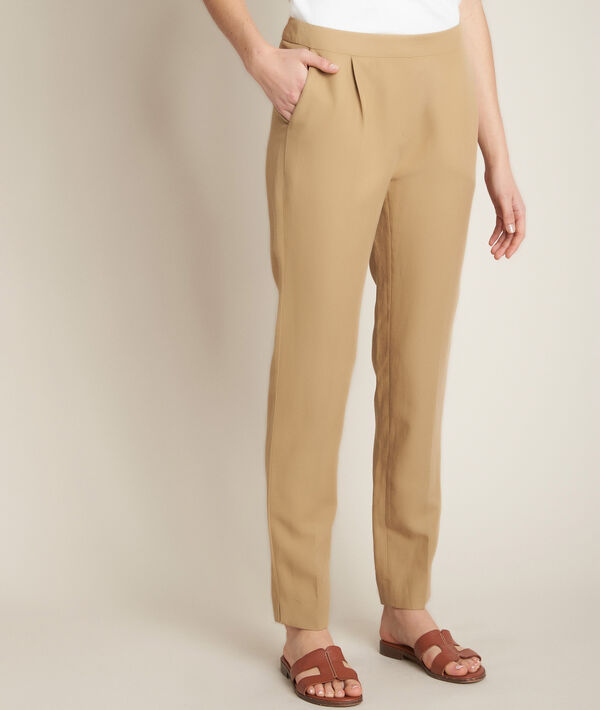 Ilias tan cropped trousers PhotoZ | 1-2-3