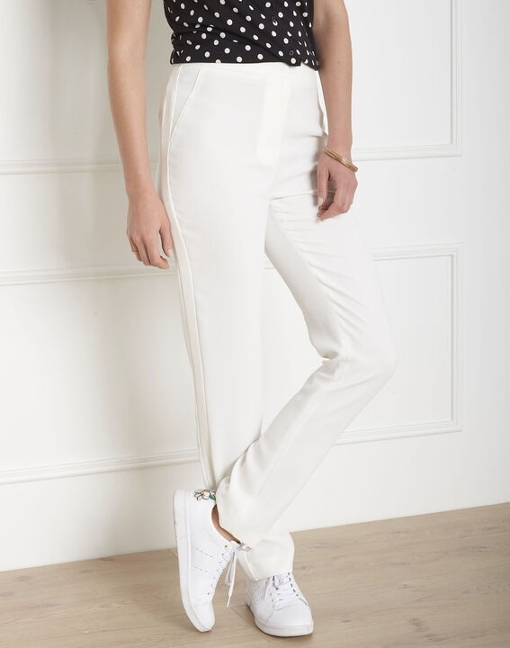 Hutch white crepe cigarette-cut trousers (1) - Maison 123