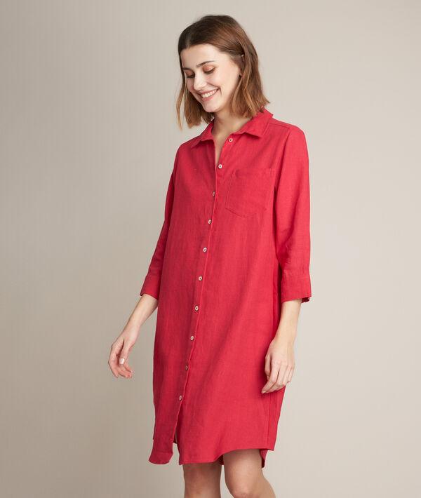 Céline linen shirt dress PhotoZ | 1-2-3