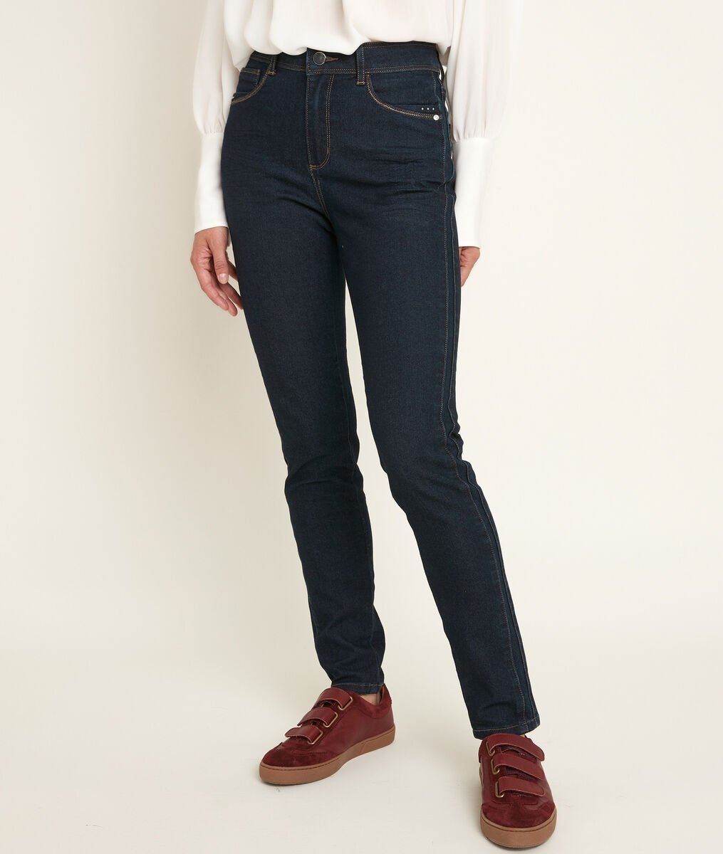 Paola, the Iconic slim-fit lurex rinse-washed jeans PhotoZ | 1-2-3