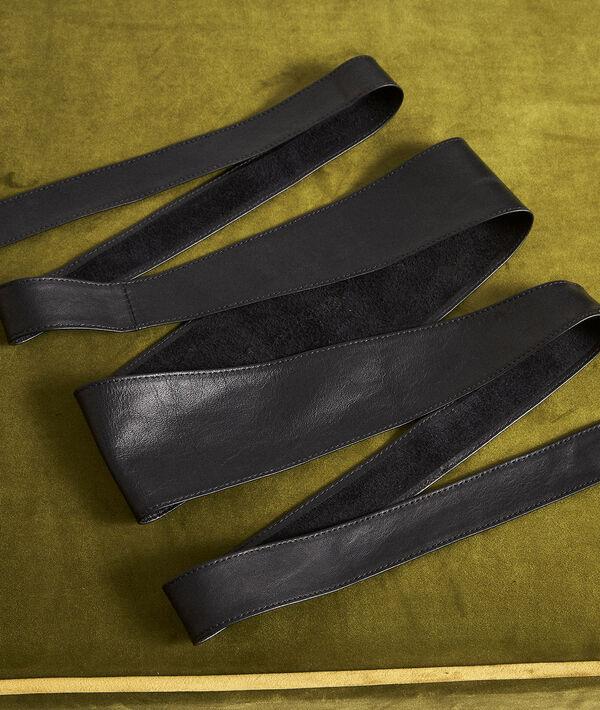 Raul black leather tie belt PhotoZ | 1-2-3