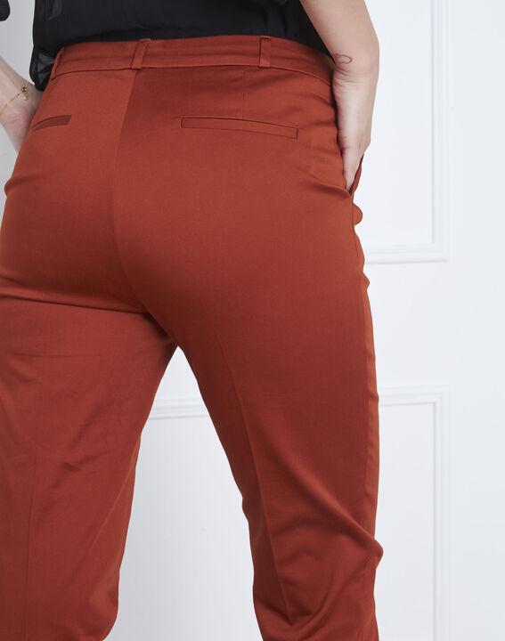 Rubis mahogany cigarette-cut trousers (4) - Maison 123